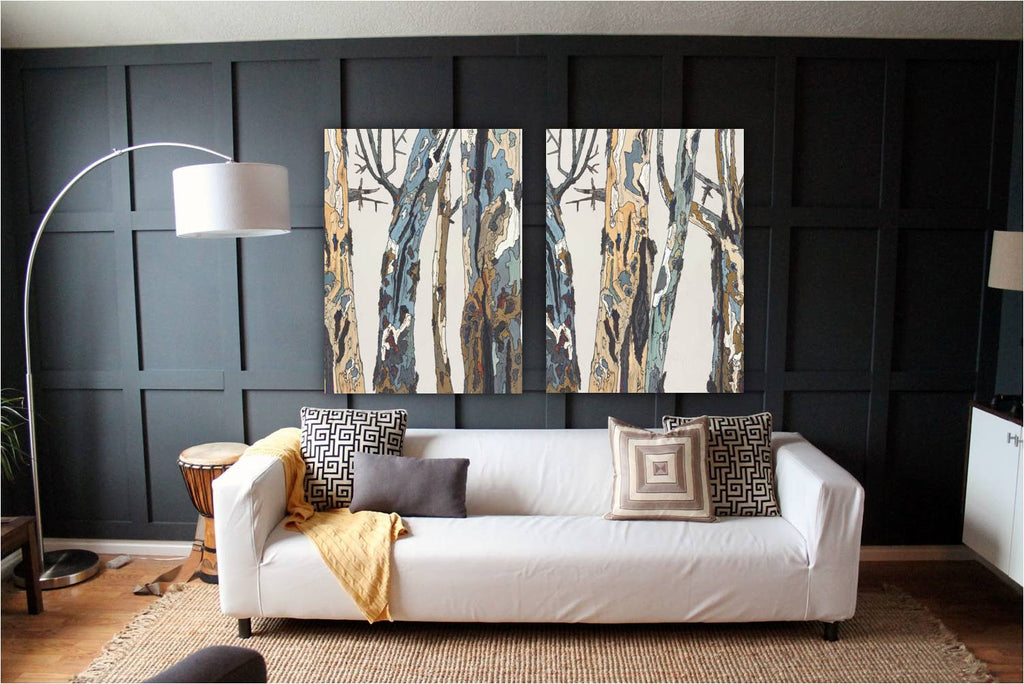 oversized art wall tree artwork