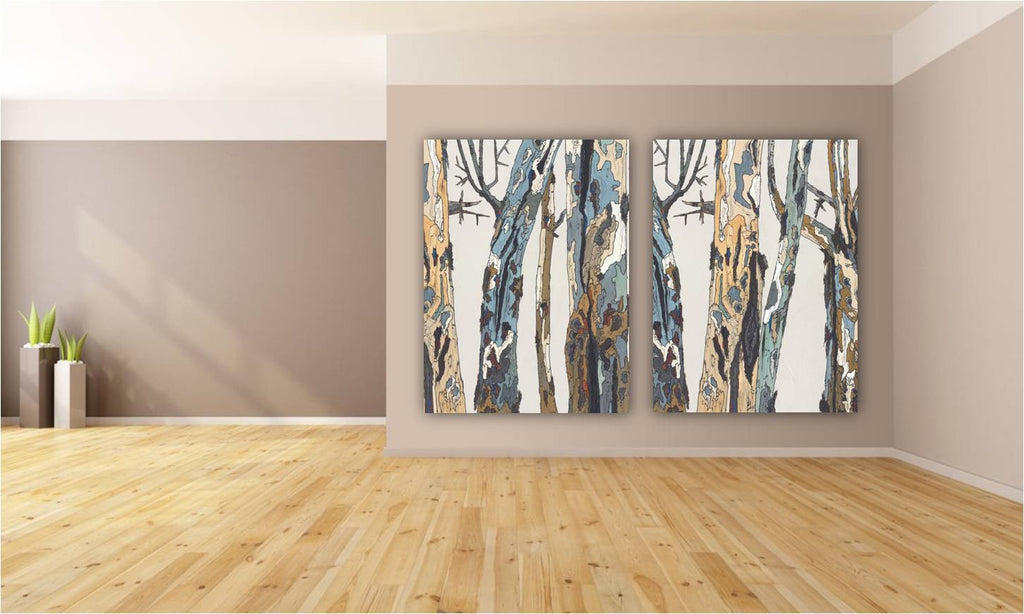 dining room wall art diptych canvas print