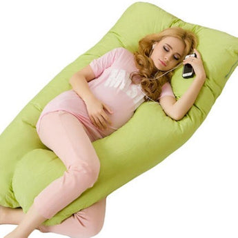 Gift Ideas Hut 504SYK-Green / 135CM Pregnancy Pillow Comfortable U-Shape Cushion Maternity Pillows