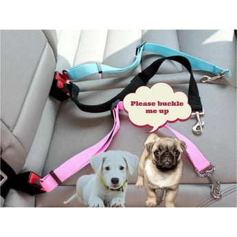 Gift Ideas Hut dog Black / L Dog Seat belts, Adjustable Nylon Harness