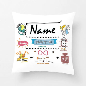 Gift Ideas Hut Personalized Baby Birth Data Printed Pillowcase