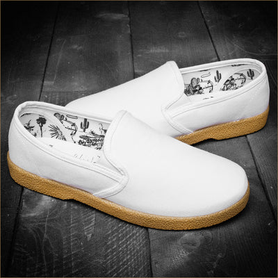 The Wino Slip On - White/Gum
