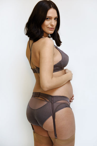 Suspender Belt - taupe