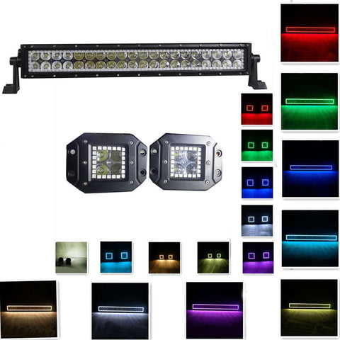 knightstar lights color changing straight led light bar