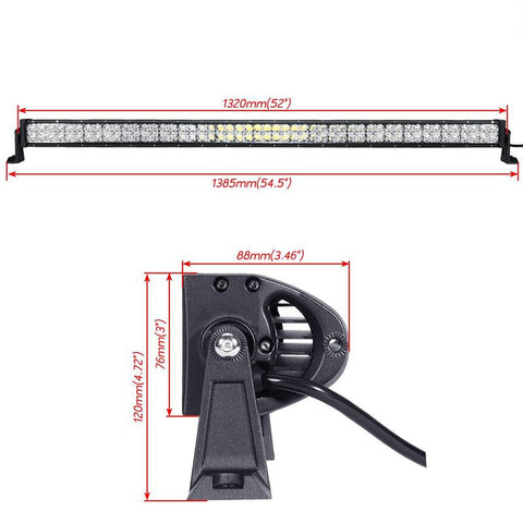 7d led light bar with mounts for Jeep wrangler YJ