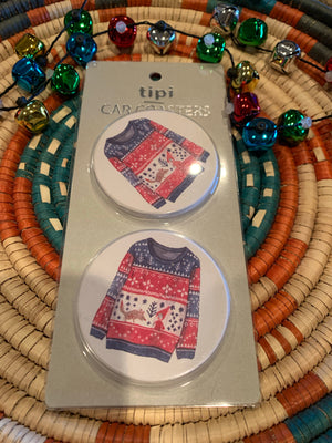 Ulgy sweater car coaster set of 2