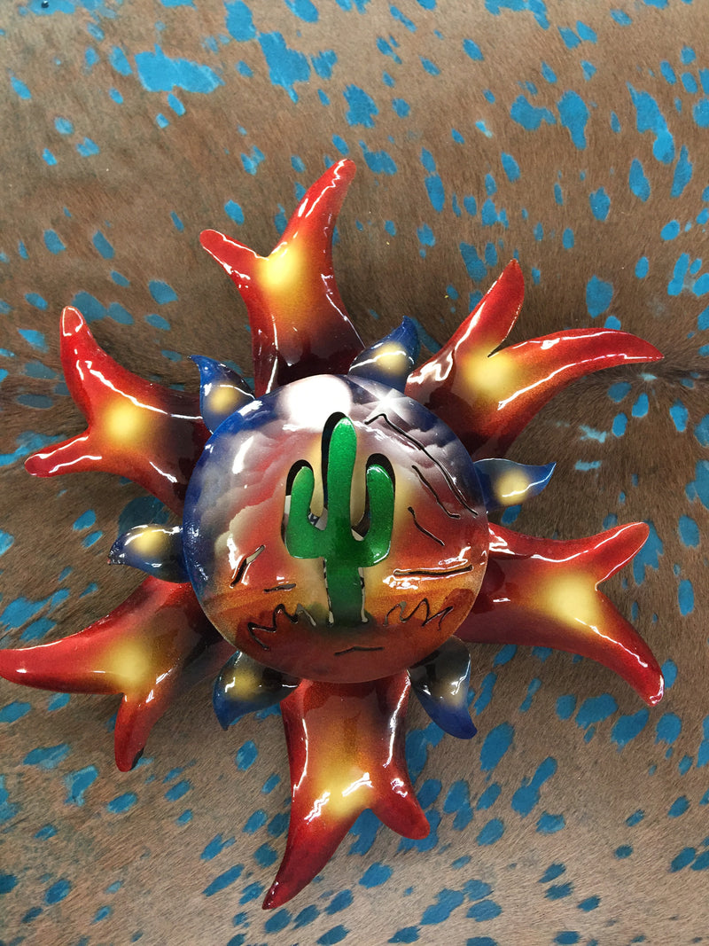 "9"" Southwest Metal sun wall decor   SS #4"