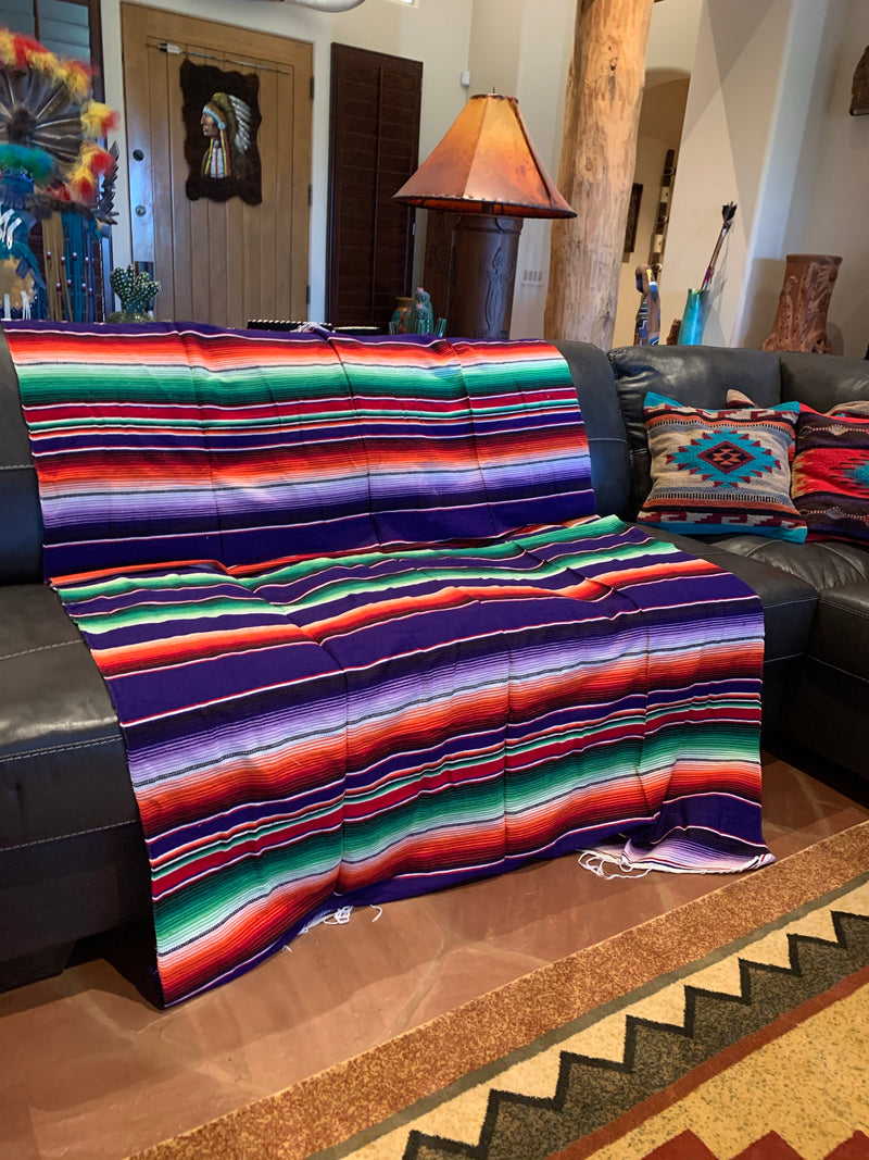 Purple serape blanket  7'-5'