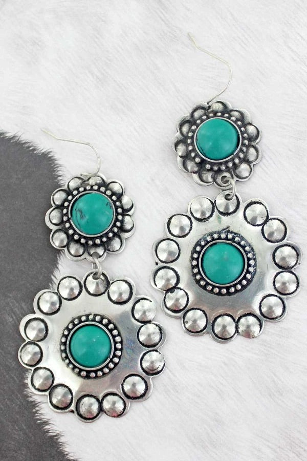 San Antonio concho earrings