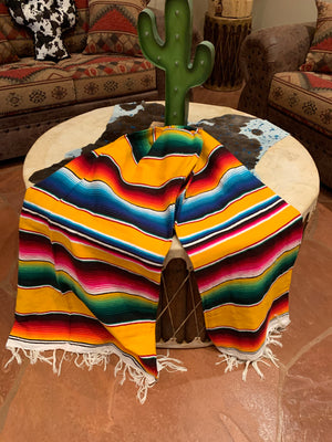 Yellow serape blanket 5'-7'