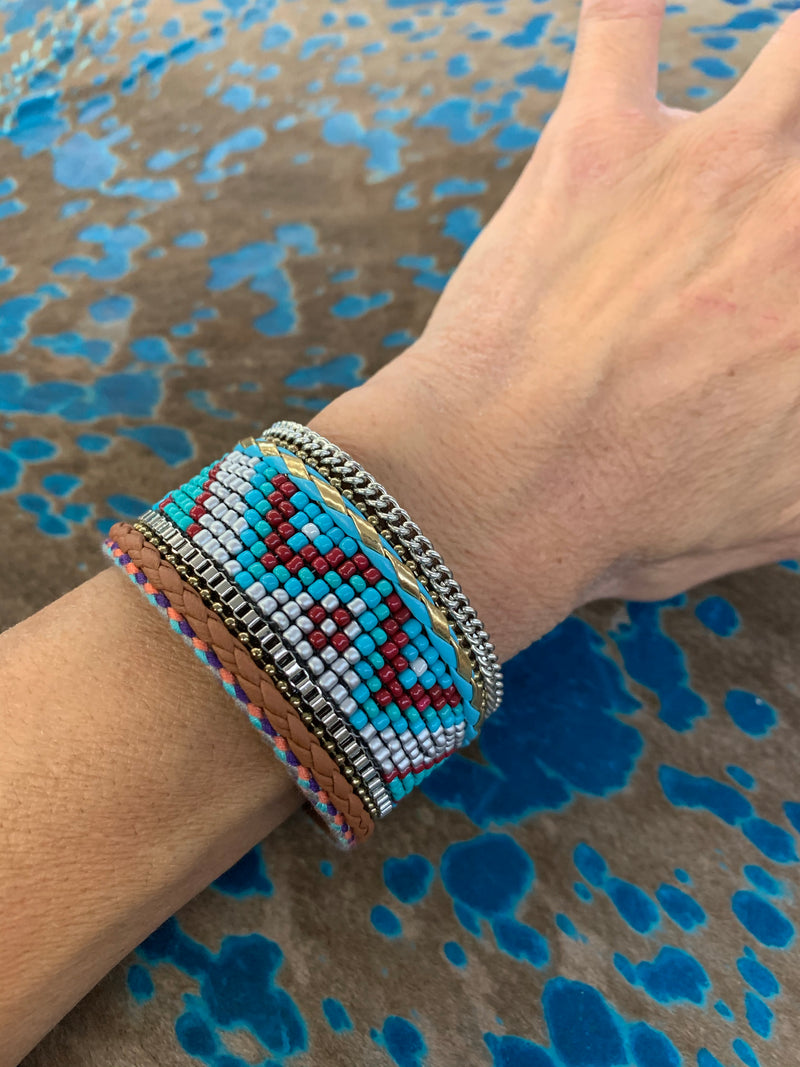 Southwest Beaded magnetic bracelet
