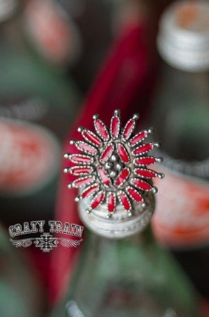 Tumbleweed red slide adjustable ring