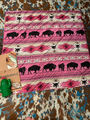 2 pack STEER BUFFALO BANDANAS