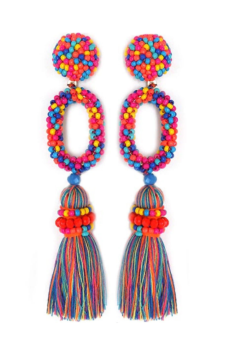 Beaded Fiesta earrings