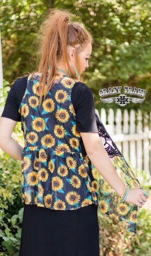 Sunflower Lace vest