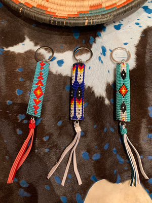 Southwest Beaded KEYCHAIN or PURSE PULL