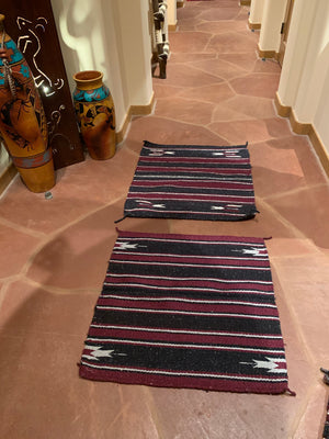 "Set of 2 Saddle blanket accent rugs 30""-30"""
