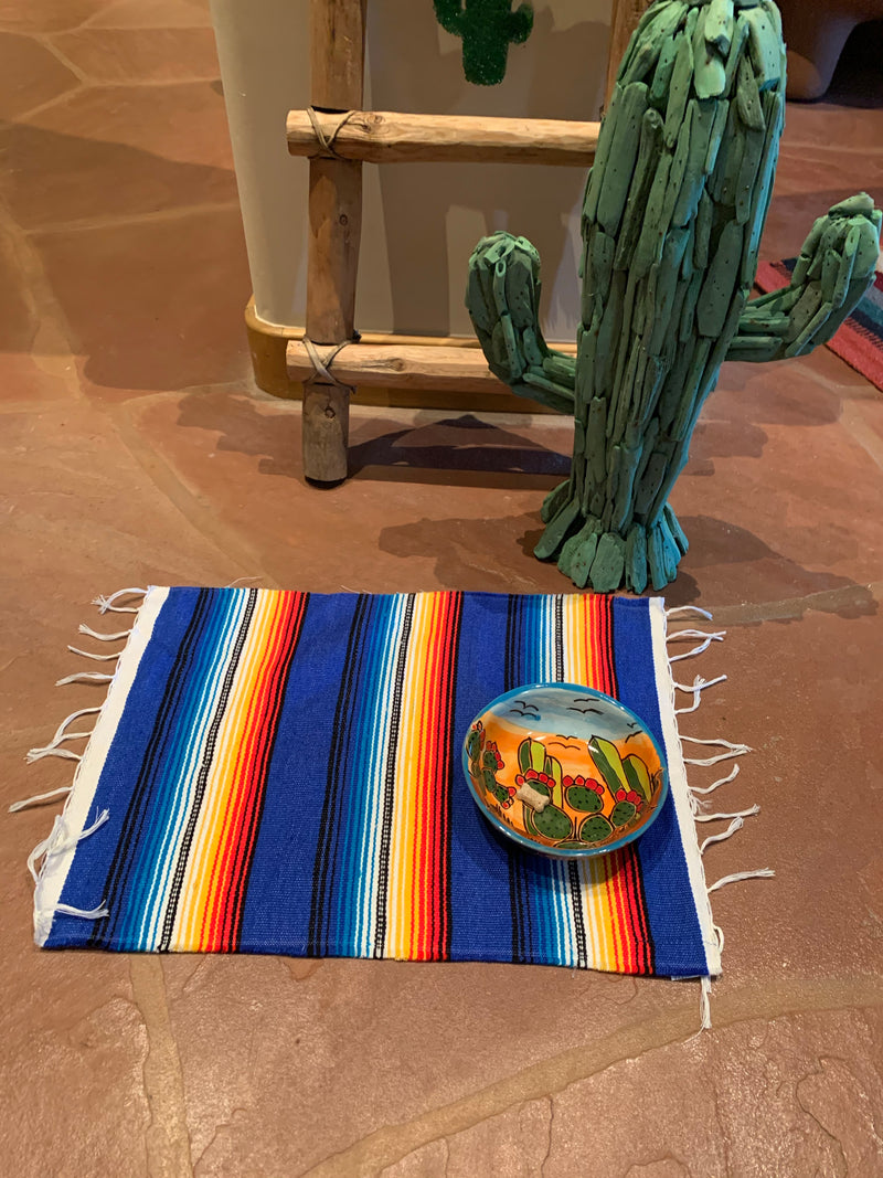 Royal blue Serape doggy/kitty placemat