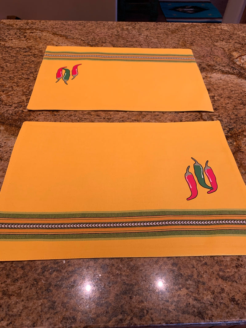Yellow chili pepper PLACEMAT