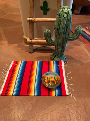 Red Serape doggy/kitty placemat