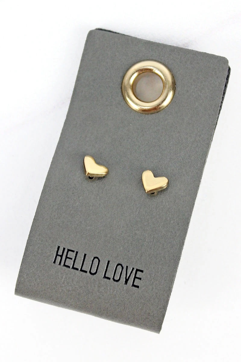 Hello Live goldtone earrings