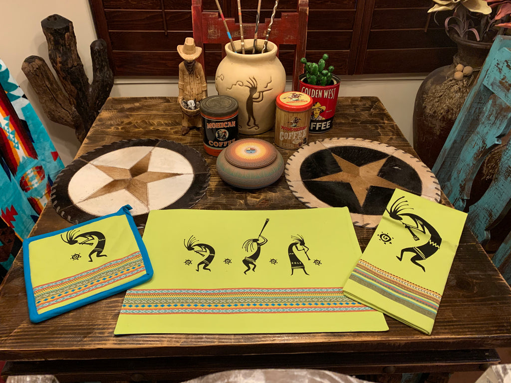 PLACEMAT LIME Kokopelli