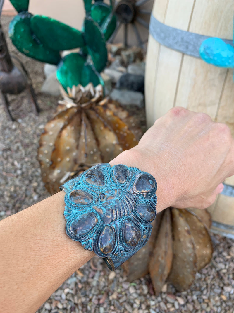 Patina chief cuff bracelet