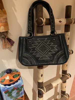 Aztec studded purse