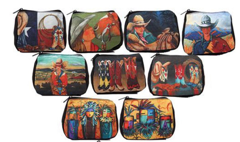 Western cowgirl coin purse