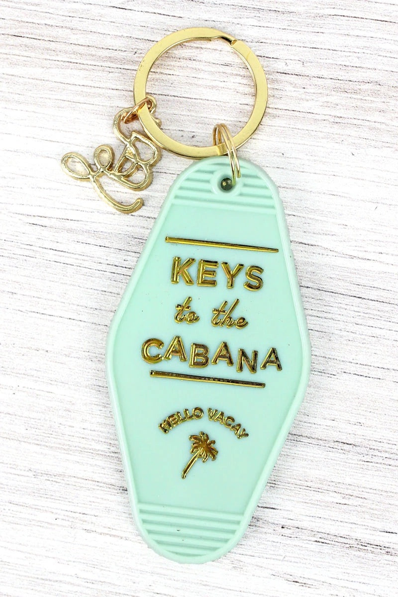 Keys to the Cabana vintage keychain