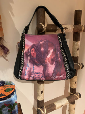 Horse lady hobo style purse
