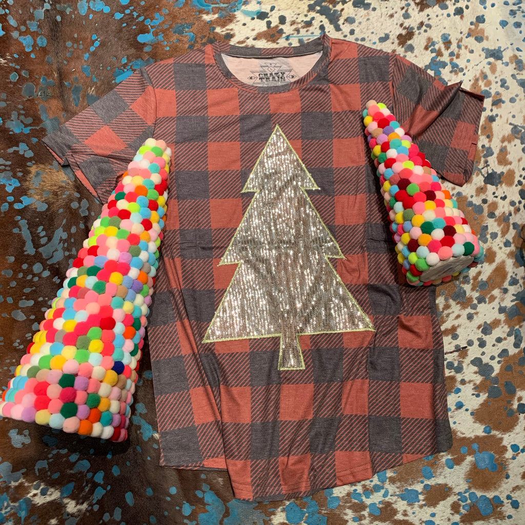 Rocking around the Christmas tree SEQUIN Tee