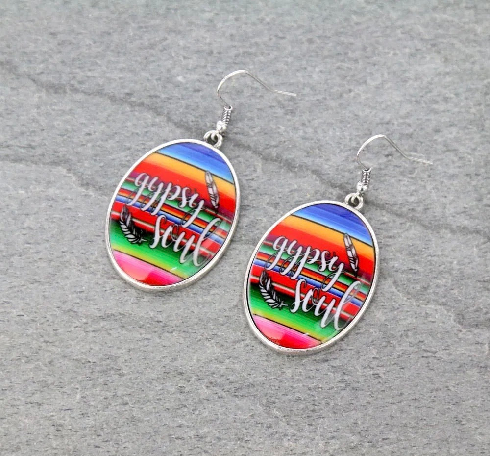 Serape Gypsy soul earrings
