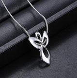 Silver Guardian Angel Necklace - FREE + SHIPPING