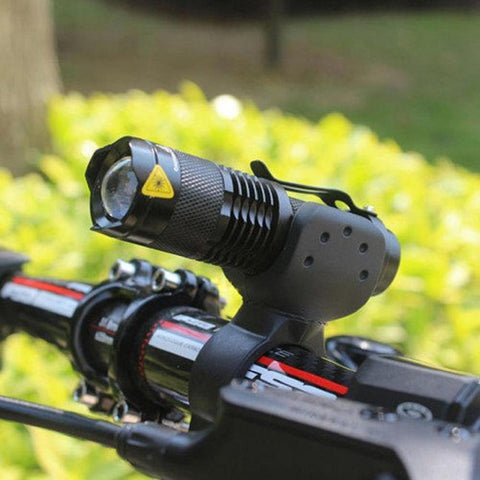 Bicycle Handlebar Mount for Mini Tactical Flashlight