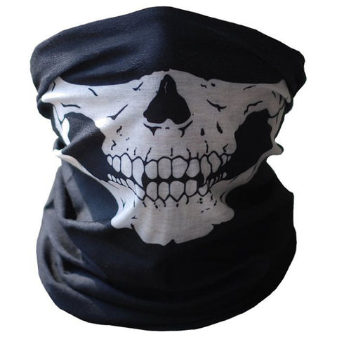 Skull Face Black Seamless Tube Mask