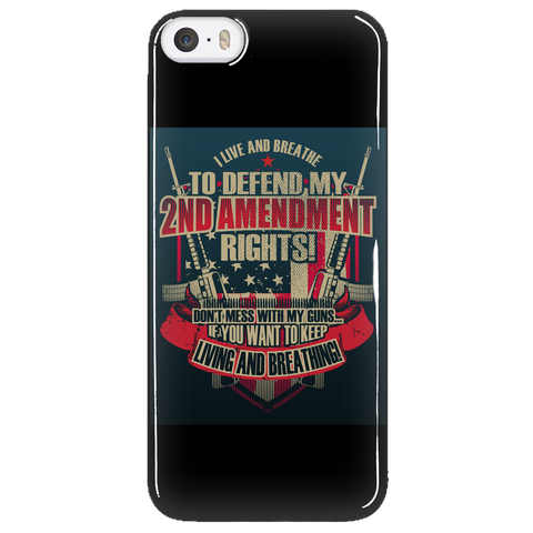 "2nd Amendment - ""Live & Breathe"" iPhone Case"