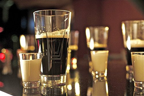3 Pack - Power Bomber Glass Set (Pint Glass & Shot Glass Set)