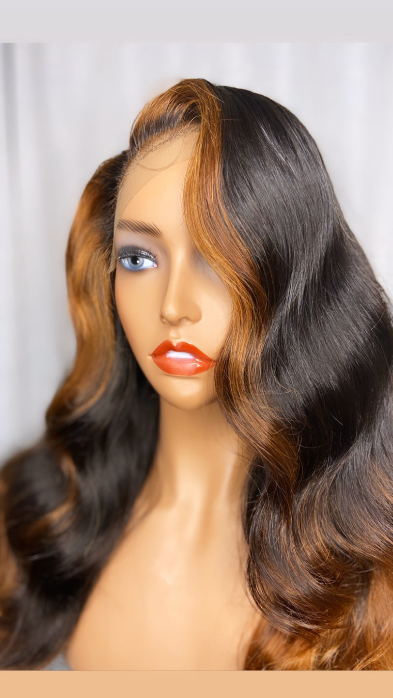 "24"" BODY WAVE LACE CLOSURE WIG"