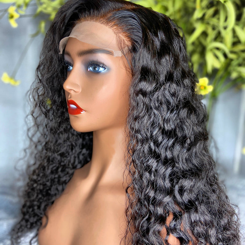 "18"" DEEP WAVE LACE CLOSURE WIG"