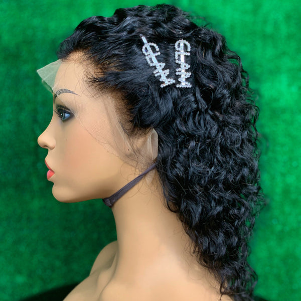 "12"" Deep Curly Premade Lace Frontal Unit"