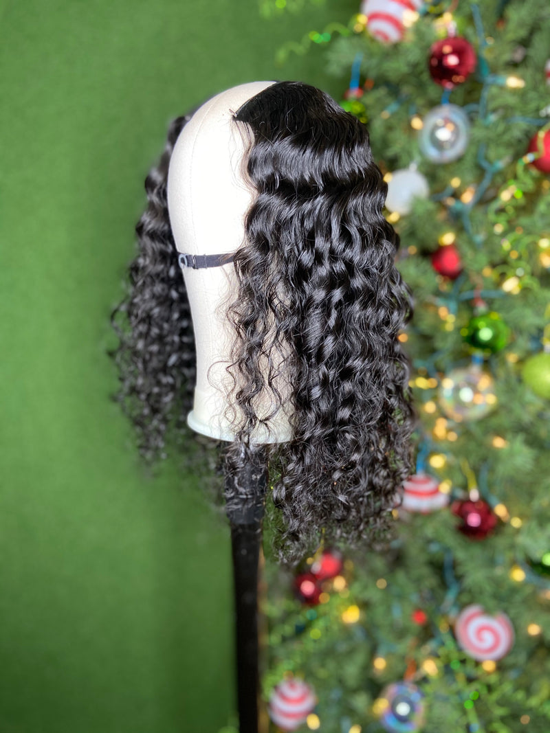 "18"" Deep Wave U-part wig"