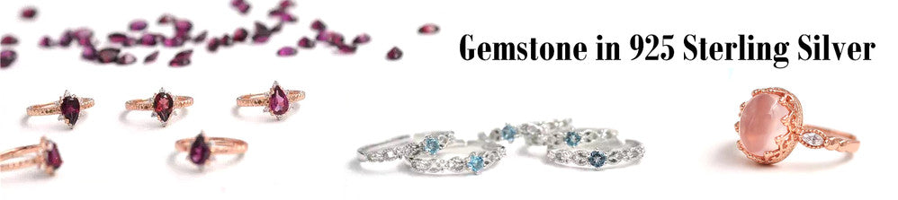 925 Sterling Silver with Gemstone