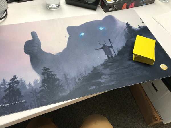 Yo bro is it safe down there in the woods? yeah man it's cool Playmat (Tomislav Jagnjic)