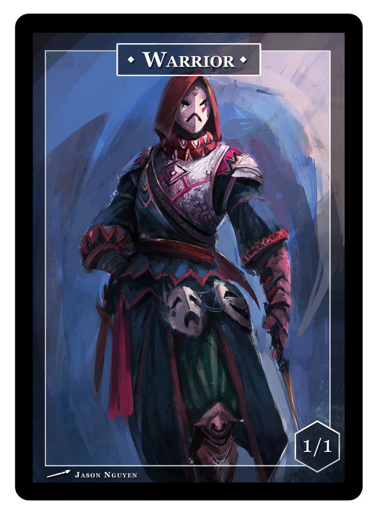 Warrior Token - 1/1 (Jason Nguyen, Pre-order)