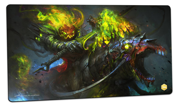 The Hallowed Ride of Lord Pumpkinton Playmat (Daniel Kamarudin)