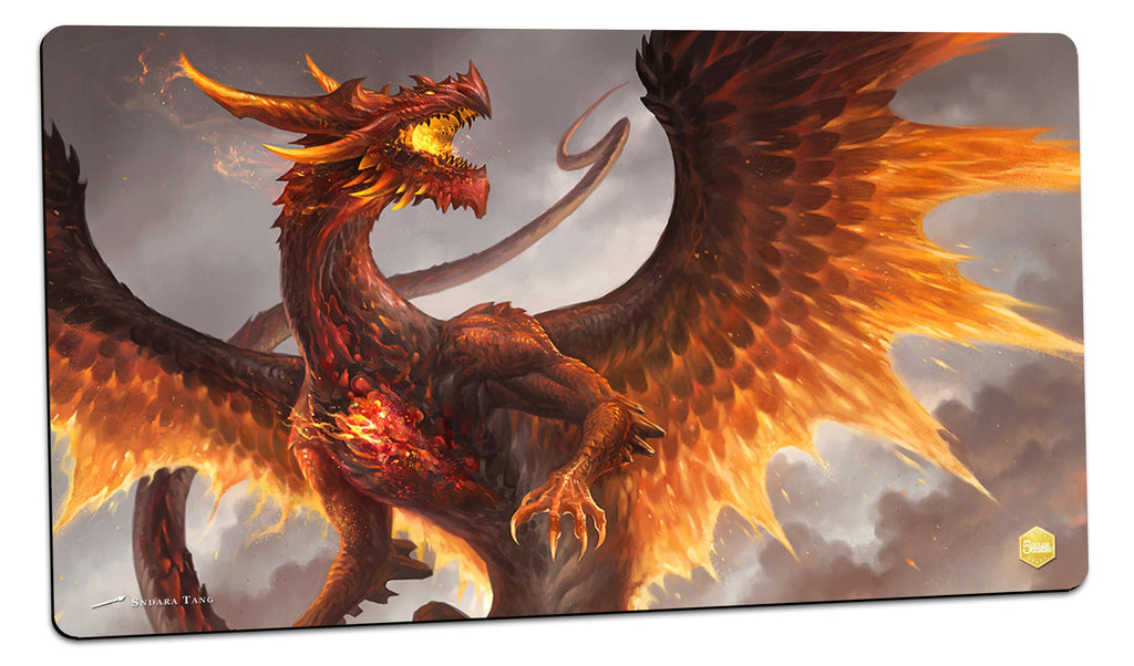 Red Crystal Dragon Playmat (Sandara Tang)