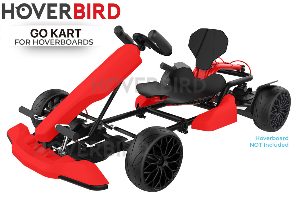 Hoverboard Attachment GoKart Hoverkart Kit for All Compatible Hoverboards - Red