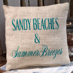 "Sandy Beaches Pillow (8X8"")"