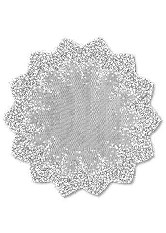 "Heritage Lace Blossom  White 42"" Round Table Topper"